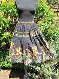 1950's Deep pleated cotton Mexican border print vintage skirt **SOLD**